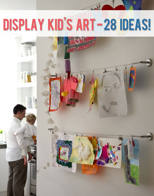display kids art 28 ideas