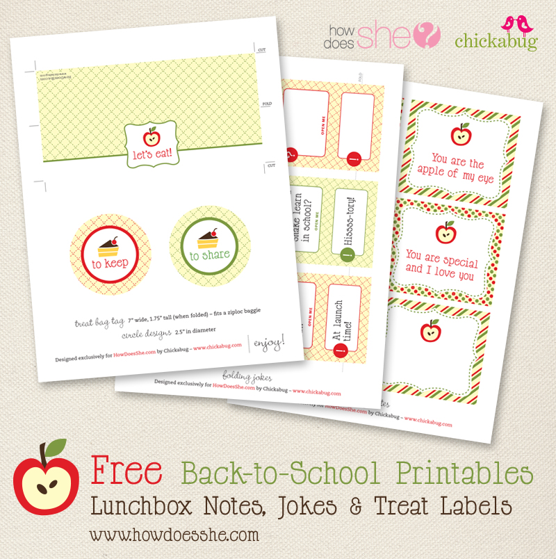 Free back-to-school printables from HowDoesShe