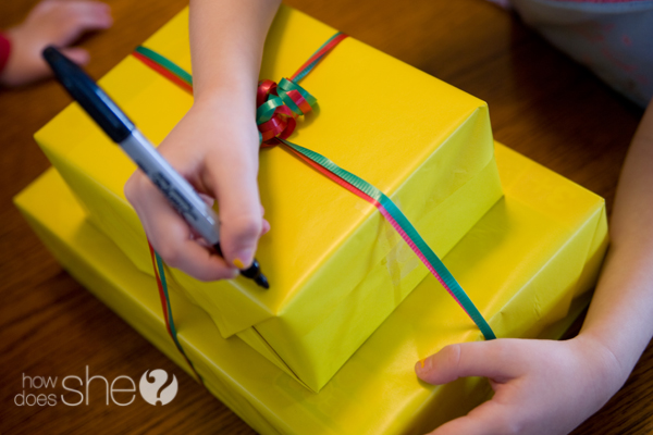 Personalize your wrapping paper