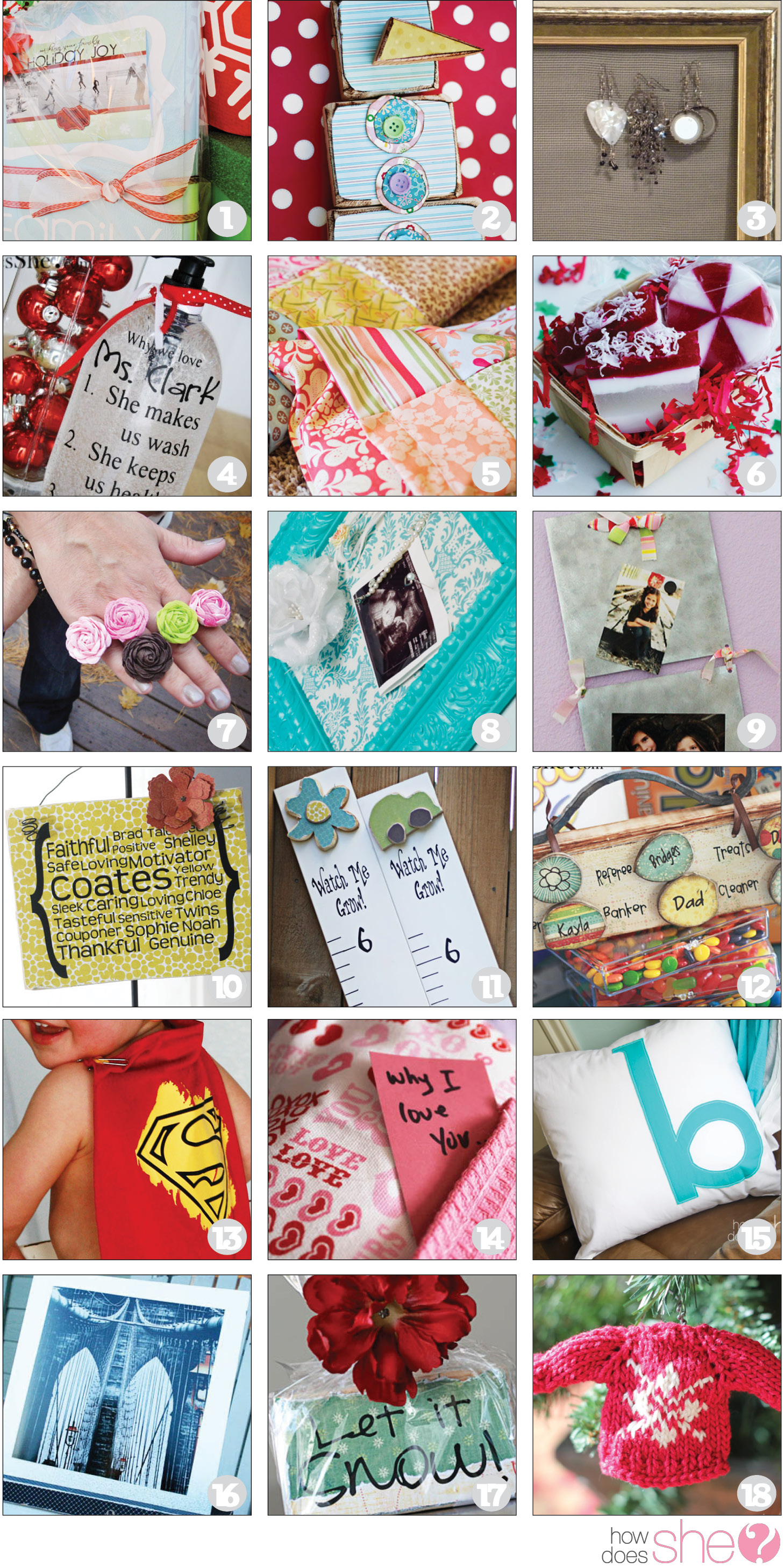 TONS of DIY Gift Ideas!