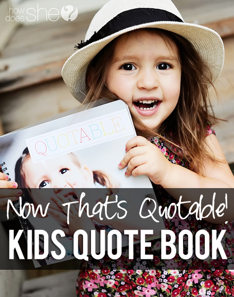 kids quote book