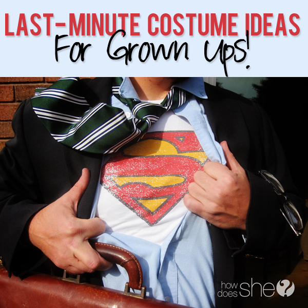 last minute costume ideas for grown ups