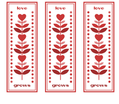 love grows bookmark