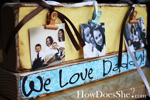 2x4 crafts Fathers day gift idea
