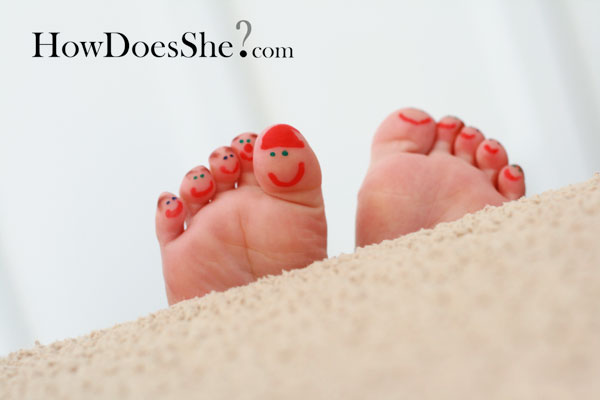Fun Family Frugal Tradition #2 Story Toes