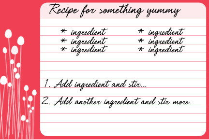 9 FREE Recipe Card Printables