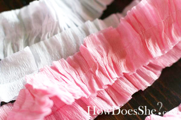 Ruffled Party Streamers