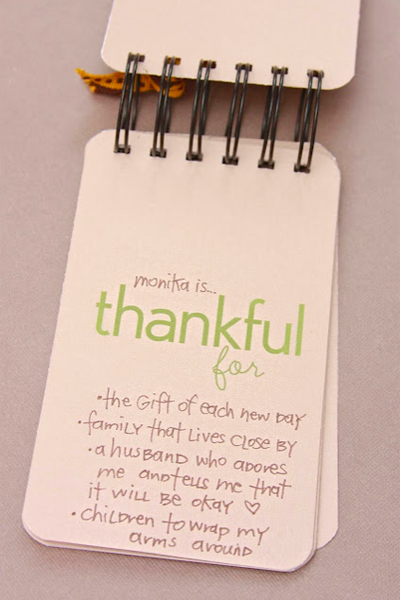 thankful booklet