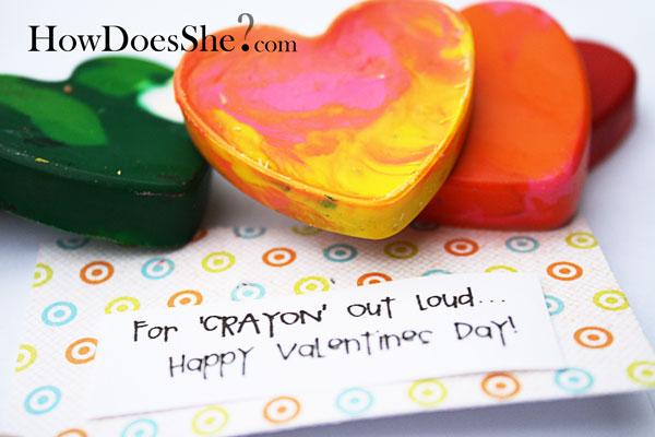 valentine crayon