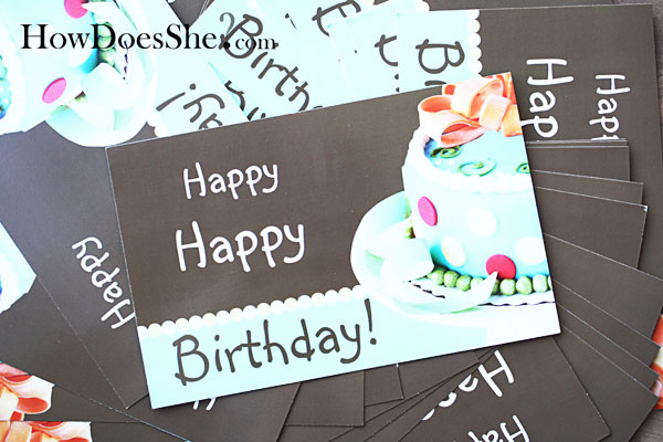 vista print birthday cards