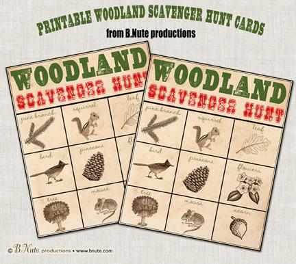 woodlandhuntcardsbyBNutecollage